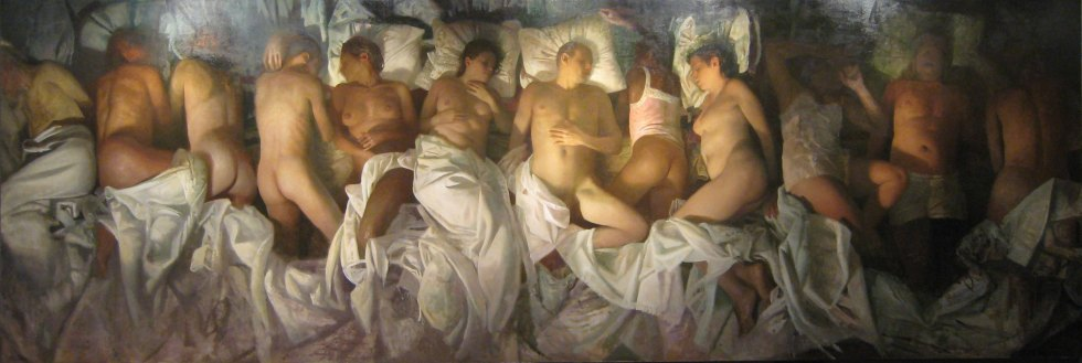 "Vincent Desiderio ""Sleep,"" (2008)."