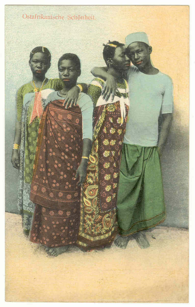 """Goan artist, """"East African Beauty"""" Zanzibar, Tanzania, Early 20th century, Hand-colored collotype, Private collection (Courtesy: Smithsonian)"""
