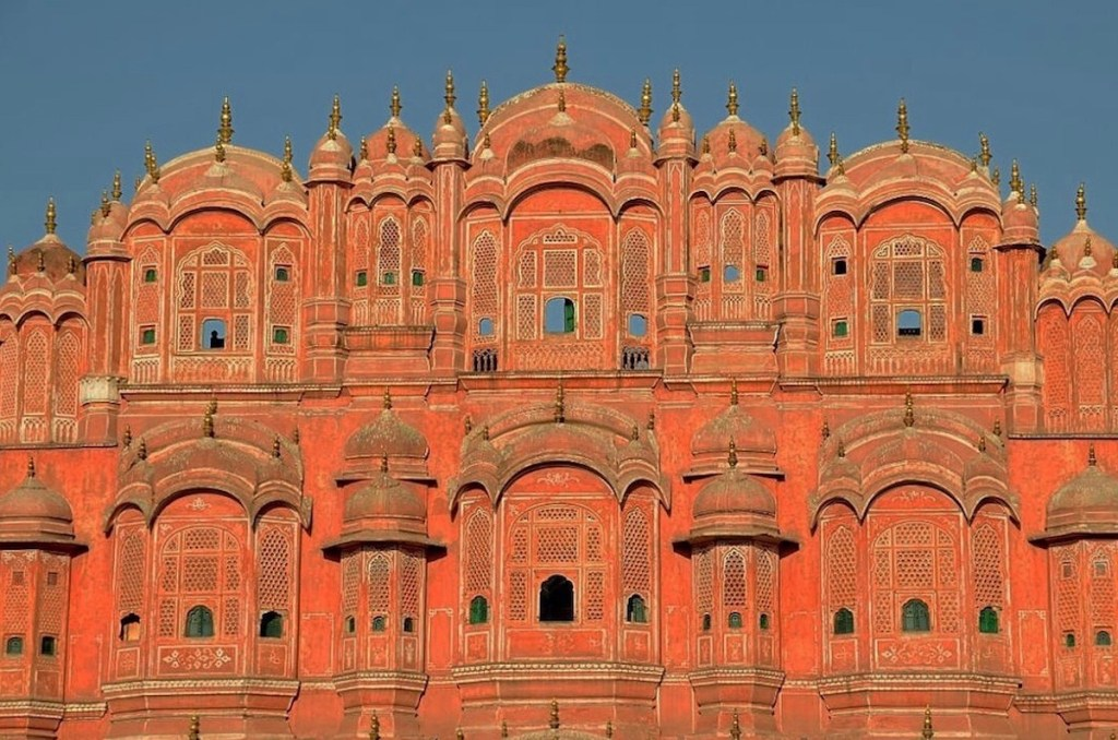 The gilded cage for women Hawa Mahal in Jaipur, India.