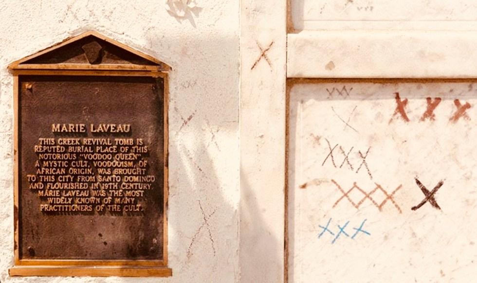 Marie Laveau's tomb, St. Louis Cemetery No.1, New Orleans.
