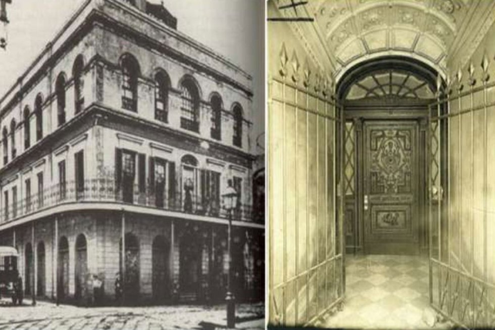 """The """"LaLaurie Mansion"""" at1140 Royal Streetin New Orleans, Louisiana."""