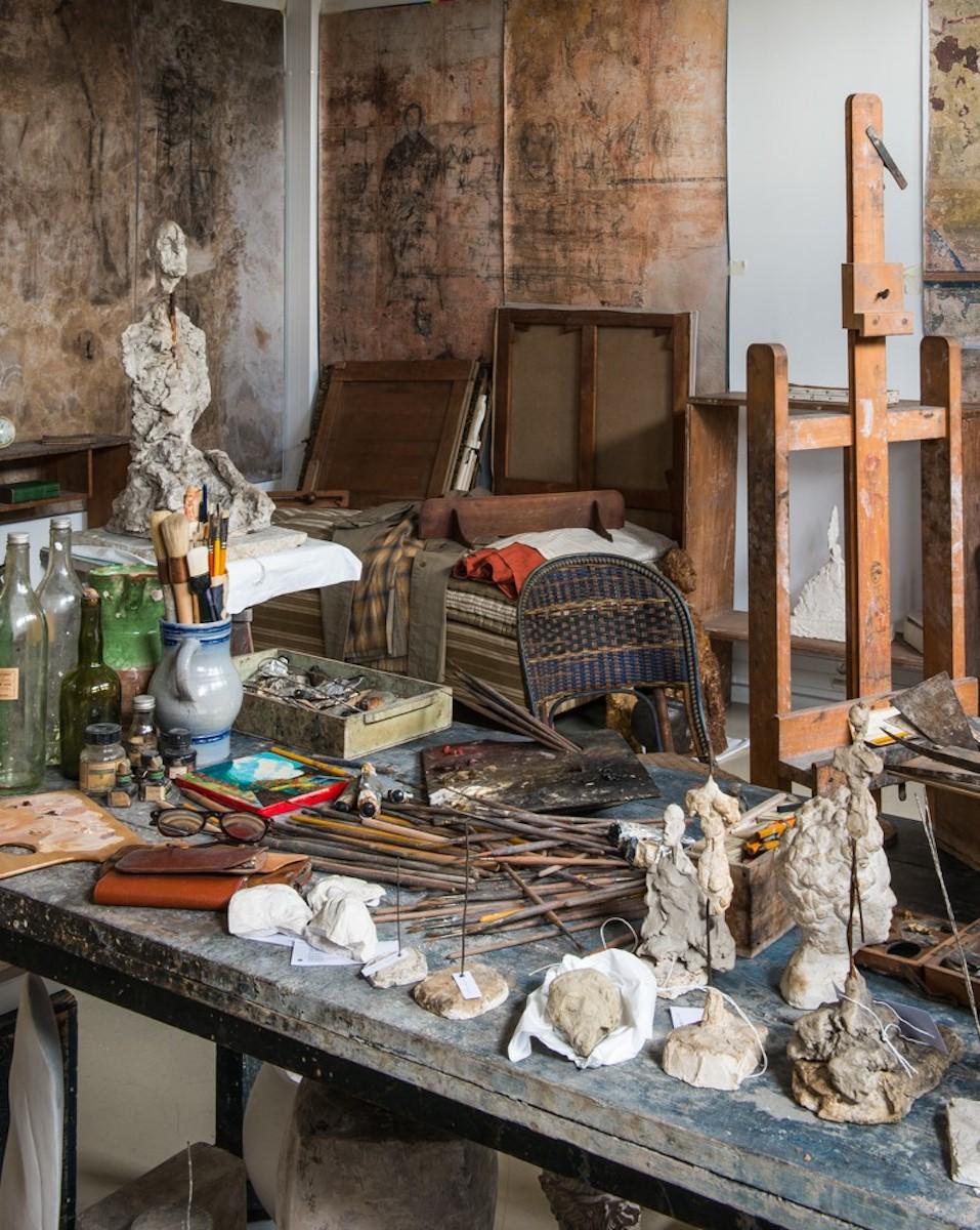 Reconstruction of the studio (c) Giacometti Estate (Giacometti Foundation and ADAGP) Paris, 2018.
