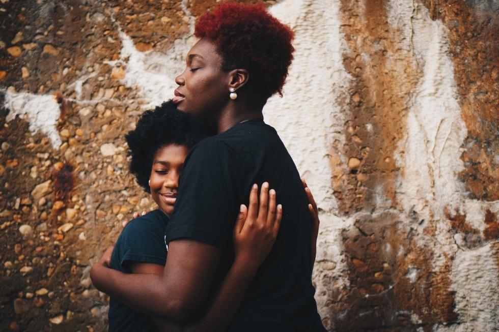 Human bonding between two women.