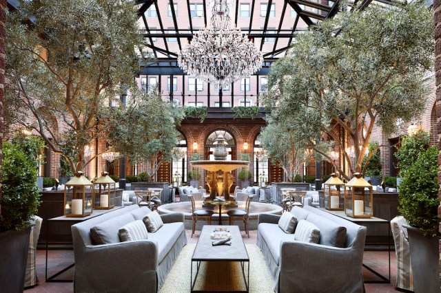"""3 Arts Club Café"" inside Restoration Hardware in Chicago, USA."