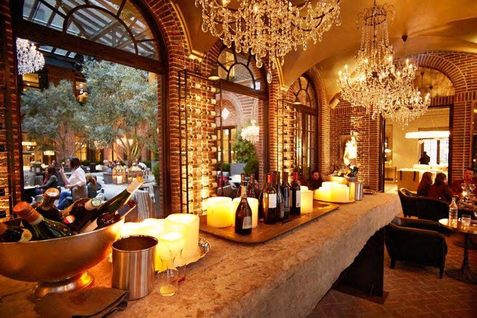 "The ""3 Arts Club Wine Vault"" inside Restoration Hardware in Chicago, USA."