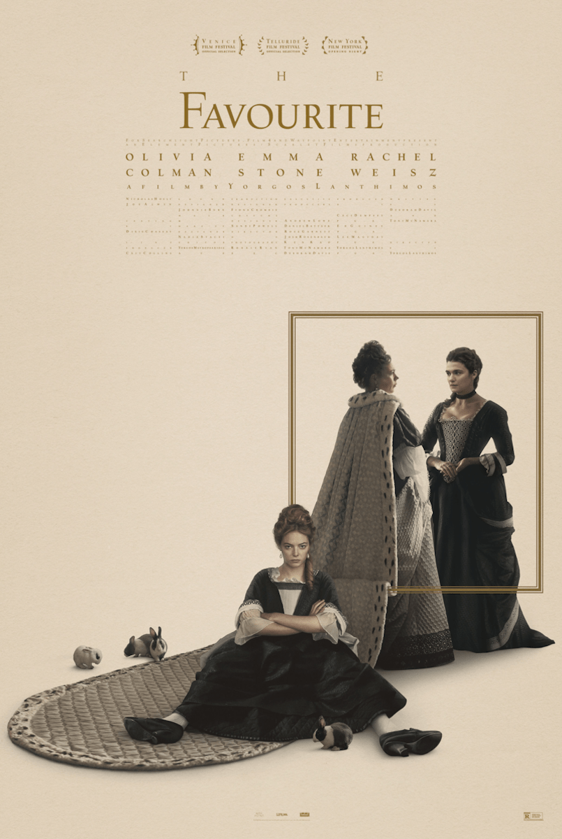 """""""The Favourite"""" film (2018) poster."""