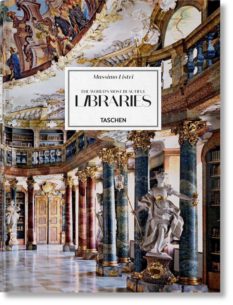 "The cover of ""The World's Most Beautiful Libraries"" tome (2018)"