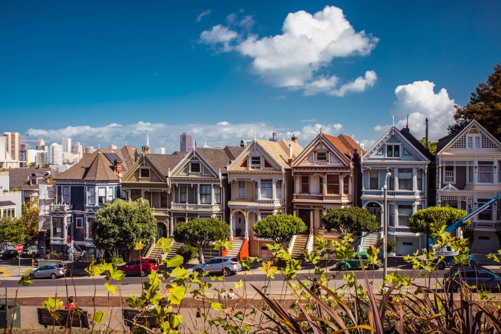 Painted Ladies, San Francisco, California, United States.