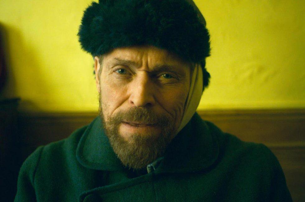 American actor Willem Dafoe as Vincent Van Gogh in Julian Schnabel's film