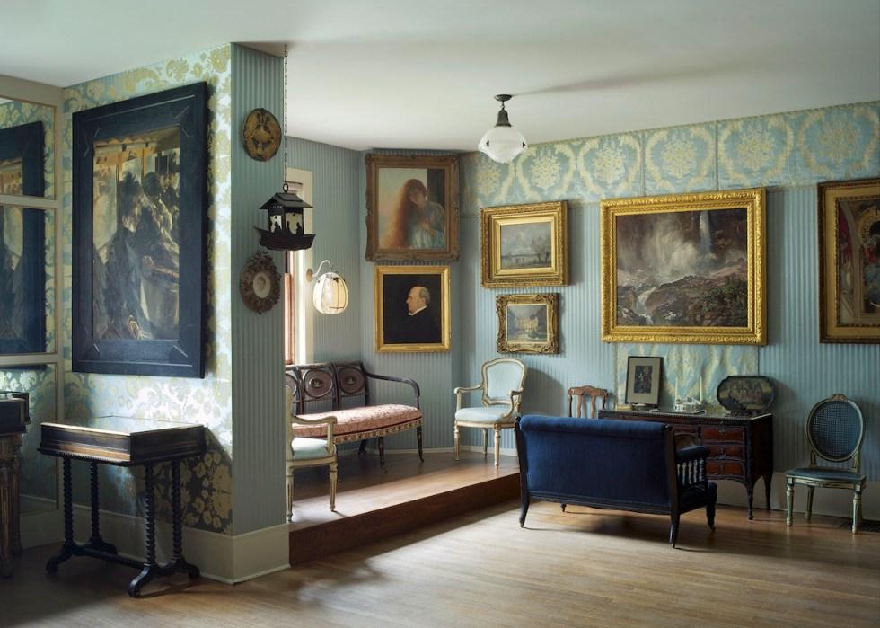 The Blue Room inside the Isabella Stewart Gardner Museum in Boston, Massachusetts.