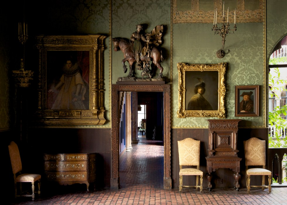 The Dutch Room inside the Isabella Stewart Gardner Museum in Boston, Massachusetts.