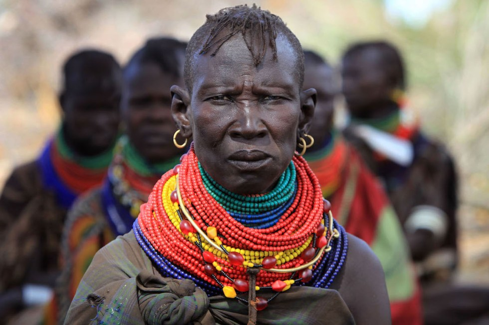 Women from the remote Turkana tribe in Northern Kenya, Africa.