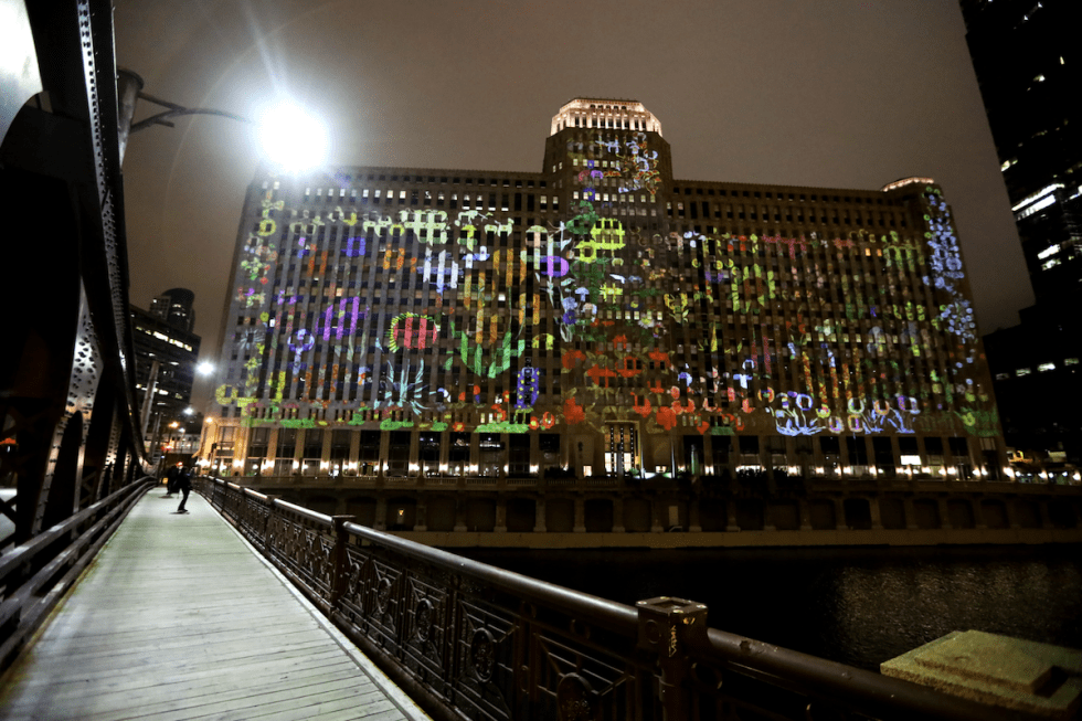 """""""Art on theMART"""" installation in Chicago hosts works created by Jan Tichy."""