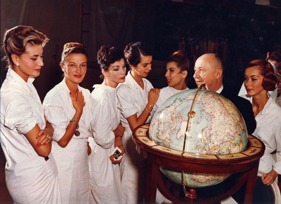 Christian Dior with models.