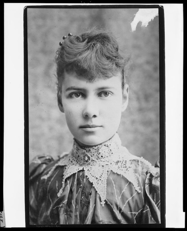 Portrait of American journalist Nellie Bly