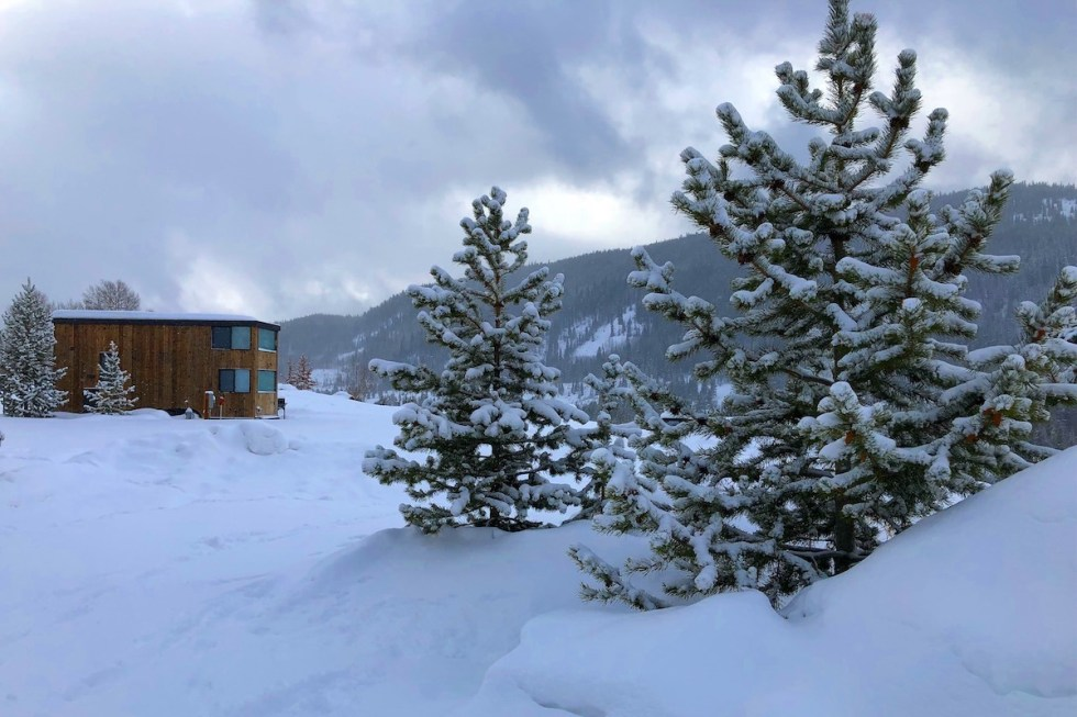 View from Snow Cross Inn in Red Cliff, Colorado, USA.