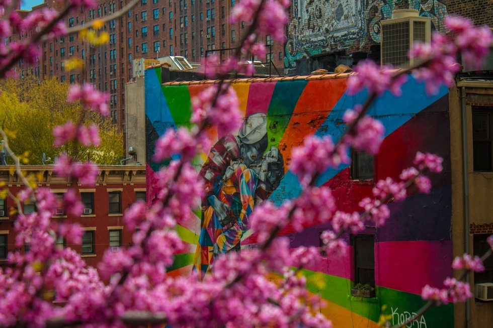 Public art along the High Line in New York City, USA.