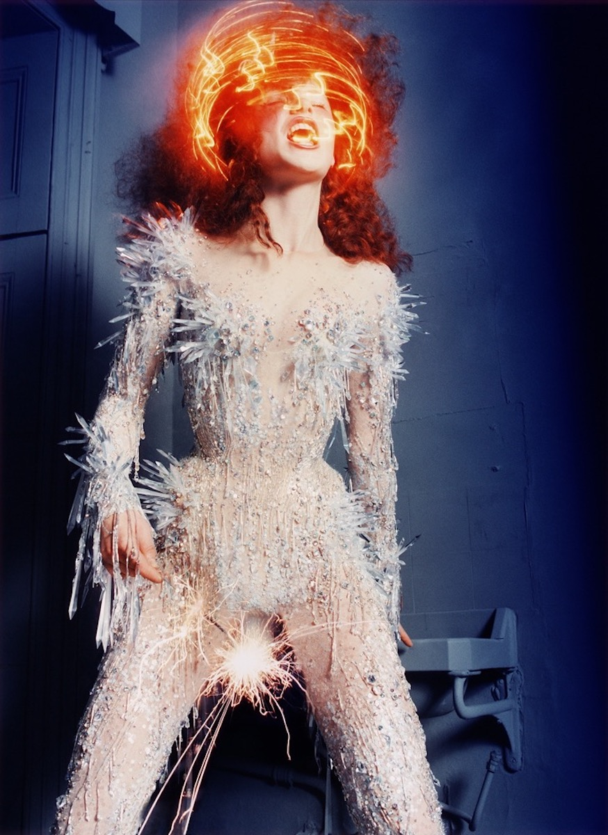 Haute couture outfit created by Thierry Mugler.
