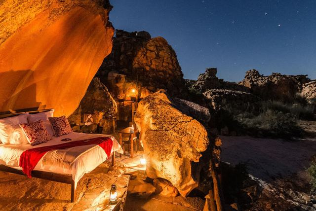 "Kagga Kamma ""Star Suite"" under the starry African night."