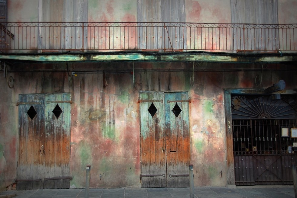 The exterior of Preservation Hall in New Orleans, Louisiana.