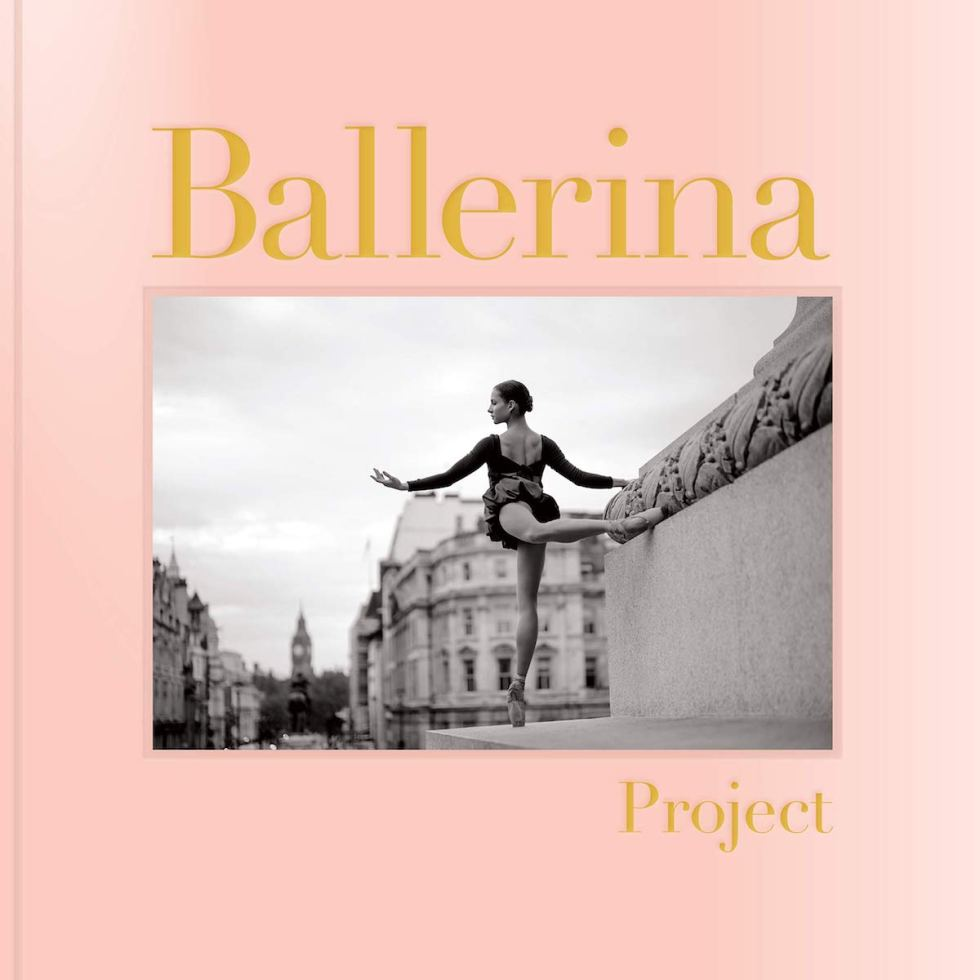 "Featuring over 170 ballerina photographs, the ""Ballerina Project"" book is bound in ballet pointe shoe-like satin pink cloth with gold foil stamping."