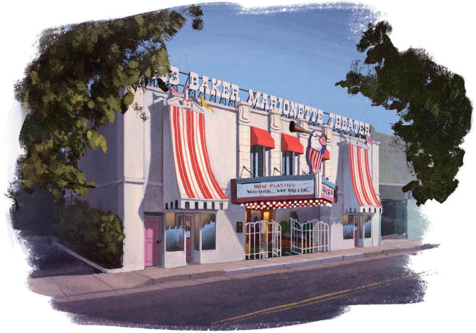 A rendering of the renovated building that will host Bob Baker Marionette Theater on York Boulevard in Highland Park.
