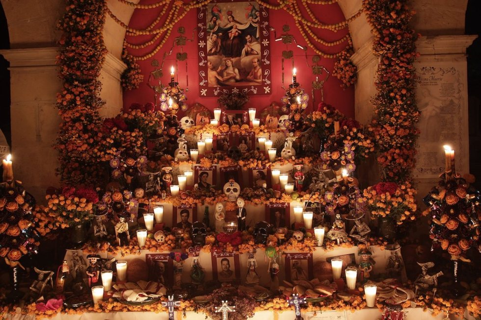 Day of the Dead altar in Oaxaca, Mexico.