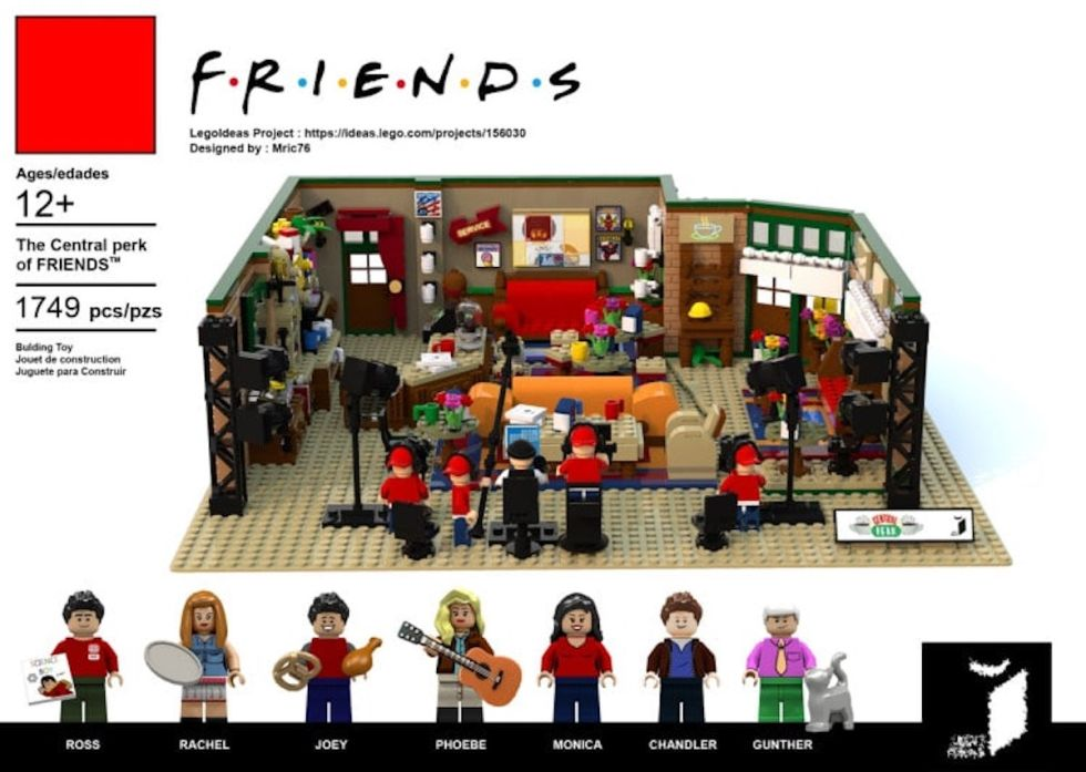 F.R.I.E.N.D.S. Central Perk coffee shop as a potential upcoming LEGO product.