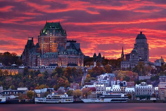 Fairmont Le Château Frontenac in Québec City, Canada.