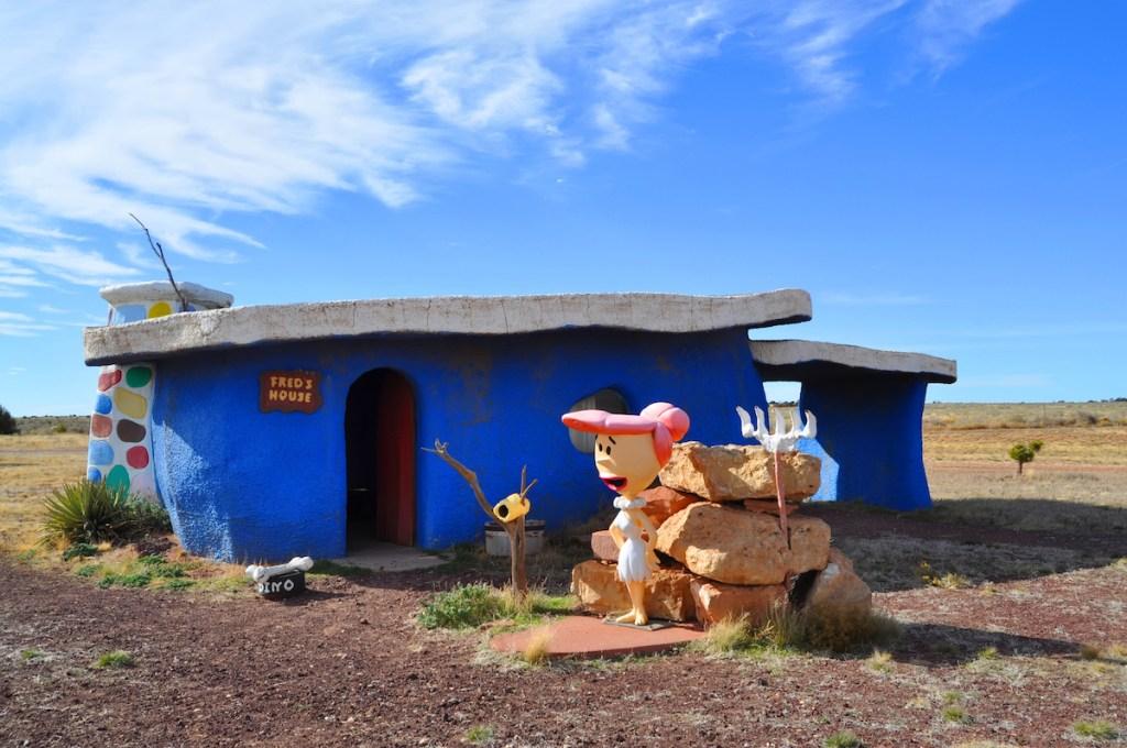 Fred's house in Flintstones Bedrock City, Arizona.