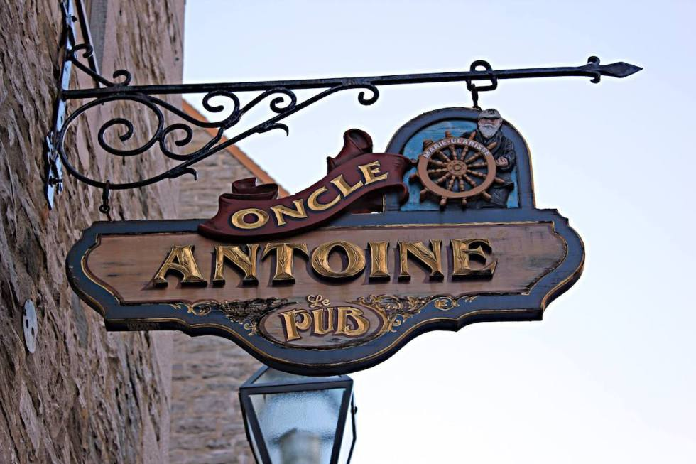 Pub L'Oncle Antoine in Québec City, Canada.