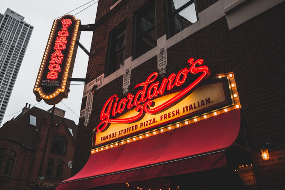 Giordano's restaurant in Chicago, United States.