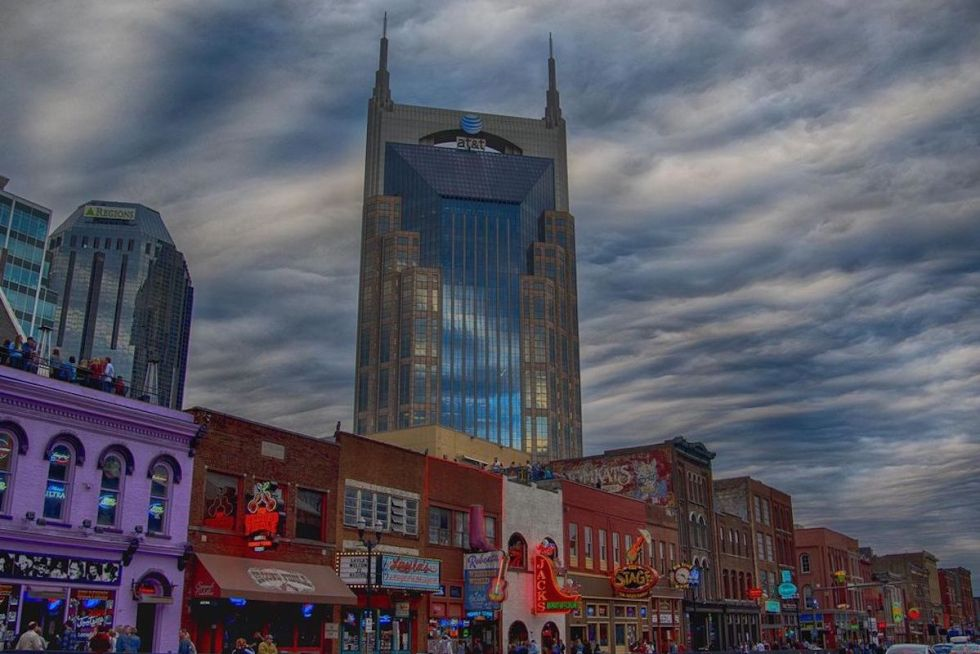 The Batman Building in Nashville, Tennessee.