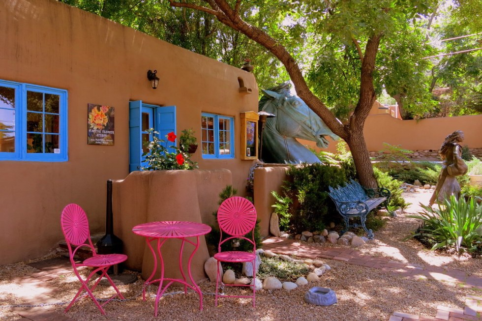 Canyon Road Art District in Santa Fe, New Mexico