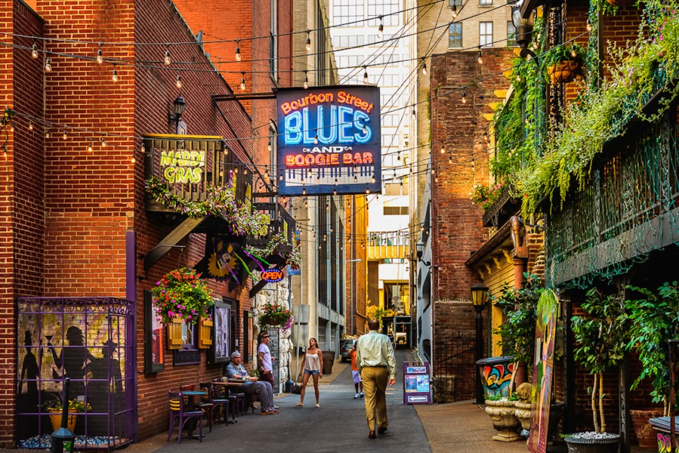 Printer's Alley in Nashville, Tennessee.