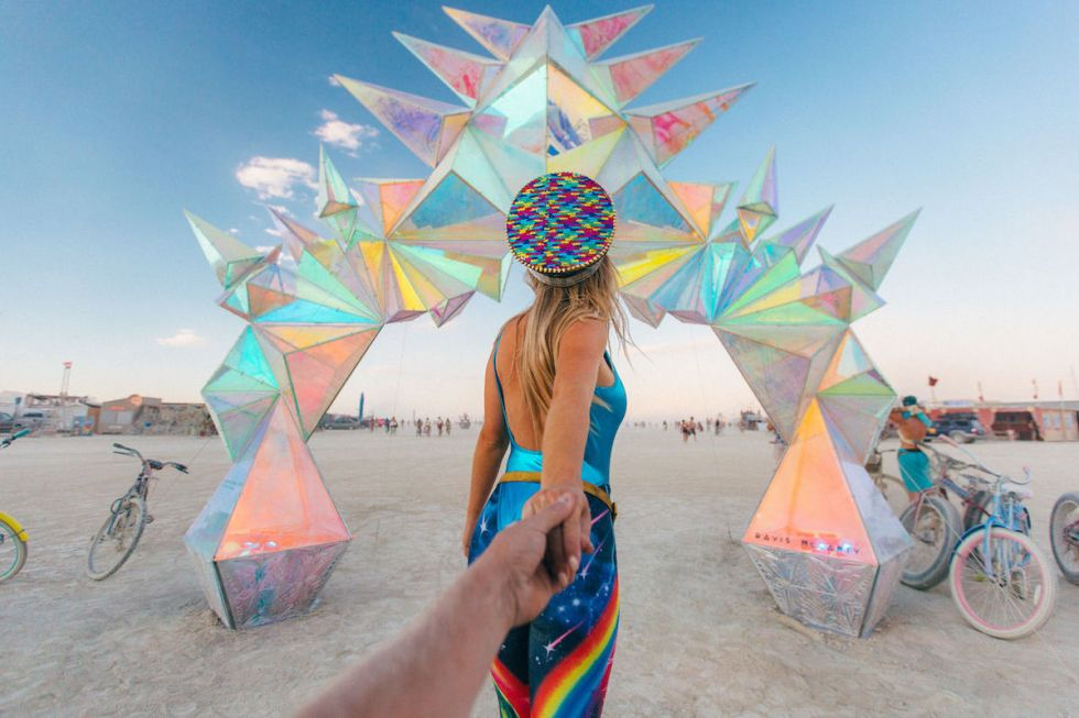 """Pulse Portal"" art installation by Davis McCarty, ""Burning Man"" 2016. Photo by Scott Sporleder"