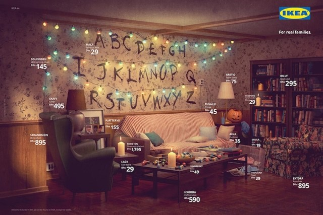 Stranger Things IKEA Living Room