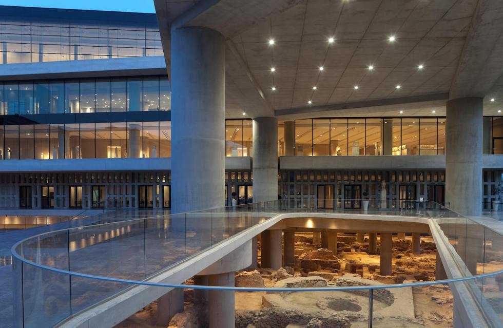 Archaeological excavation at the Acropolis Museum property.