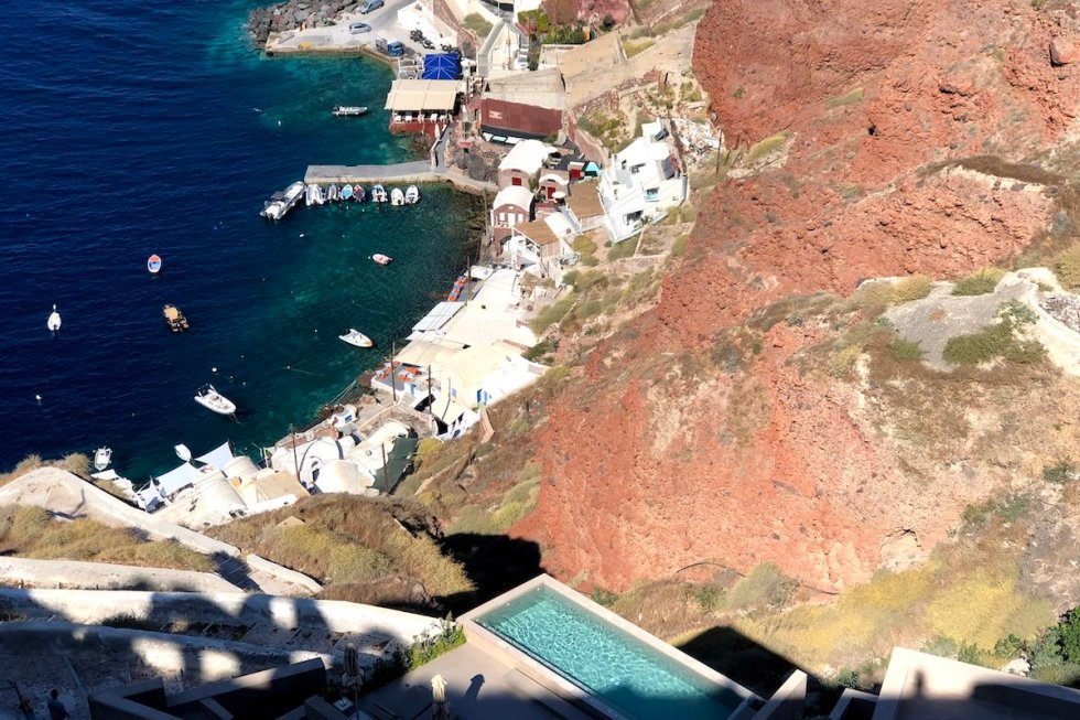 View of Ammoudi Bay from Oia, Santorini