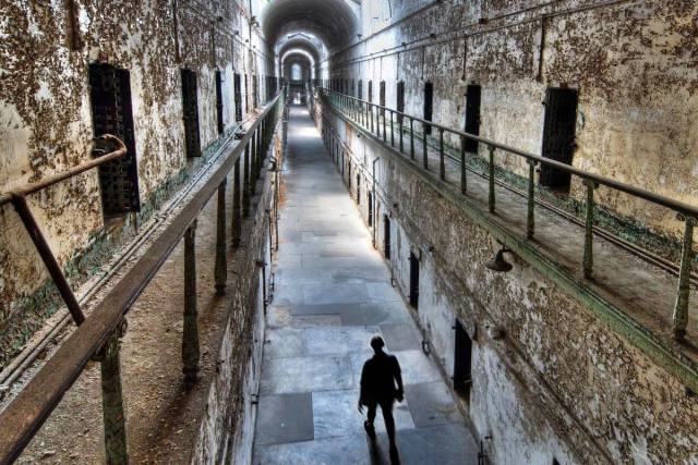 Inside Eastern State Penitentiary's historic Cellblock 7