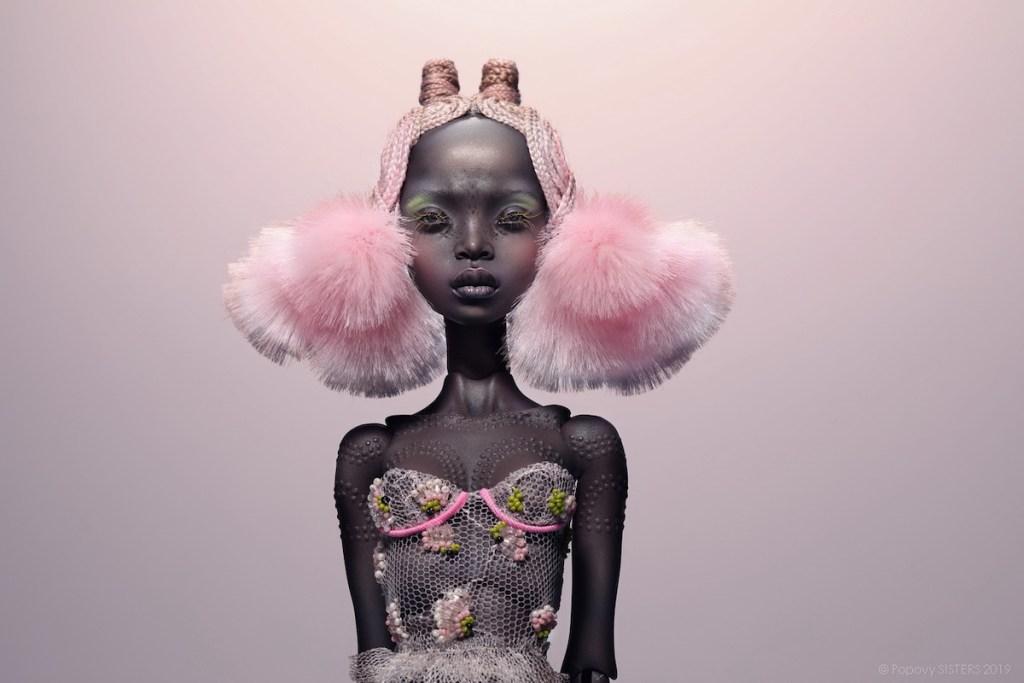 Popovy Sisters intricate fine art doll