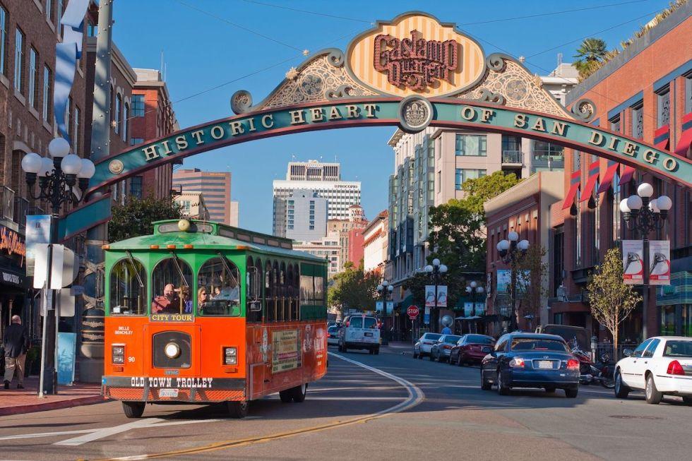 Gaslamp Quarter in downtown San Diego, California