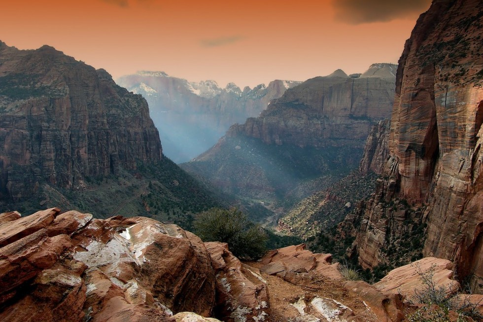 Sunset at Zion National Park in Southern Utah