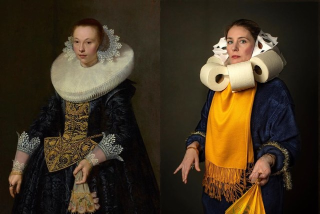 "Recreation of Nicolaes Pickenoy's ""Portrait of a Young Woman"" by Bryan Beasley"