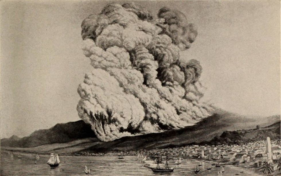 The eruption of Mount Pelée on 8 May, 1902