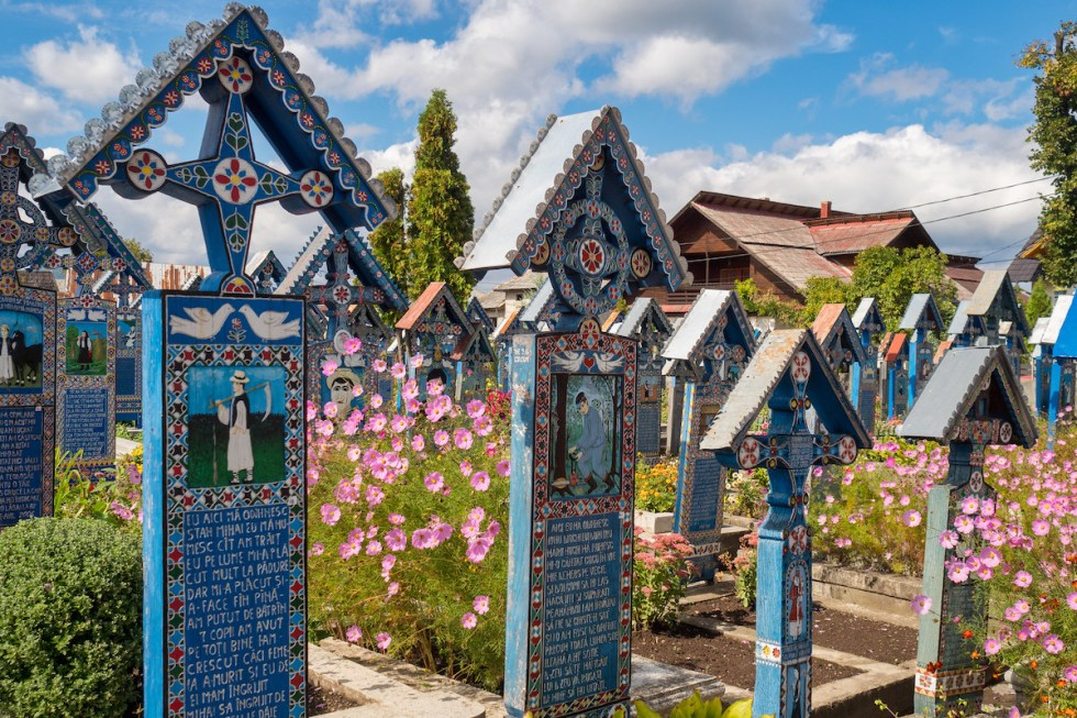 Merry Cemetery grounds in Romania