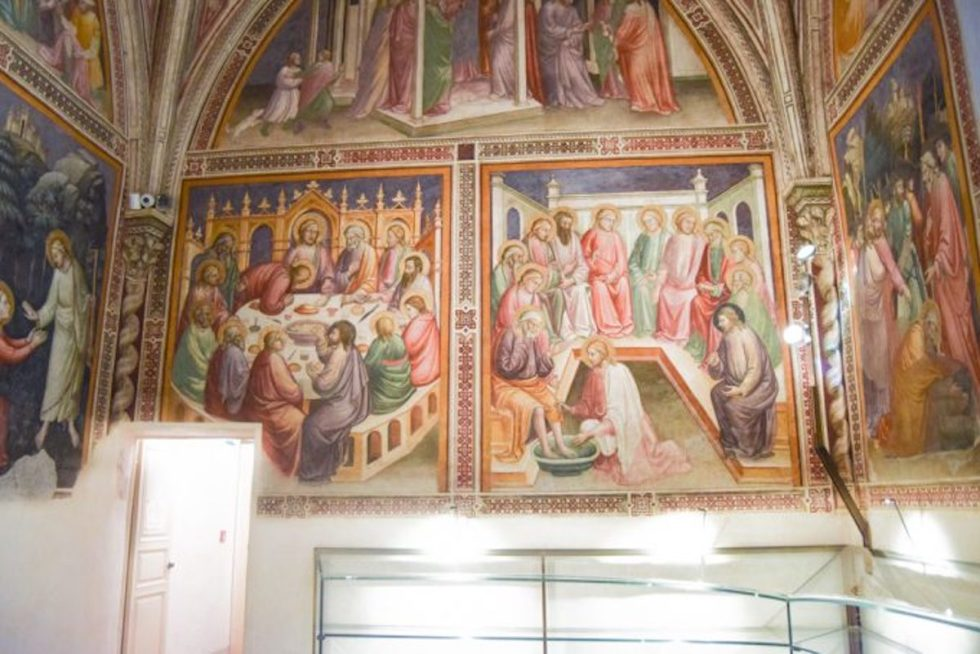 frescoes created in 1380 by Early Renaissance painter Mariotto di Nardo for the church sacristy