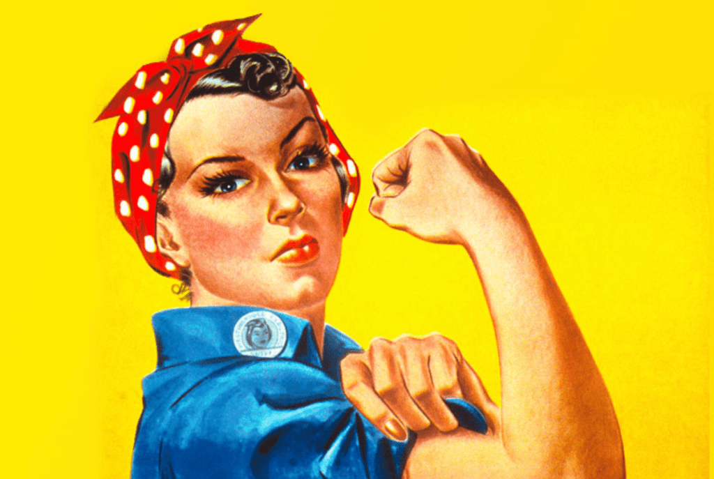 Rosie the Riveter depicted by J. Howard Miller in a 1943 poster
