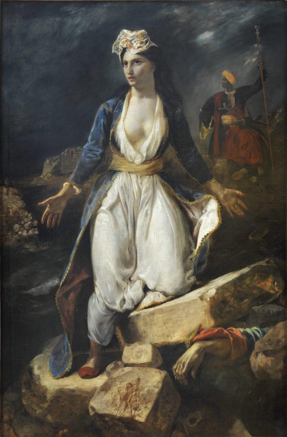 Eugène Delacroix, Greece on the Ruins of Missolonghi