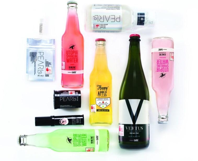 Spread of beverage bottles that use SoRSE emulsion technology